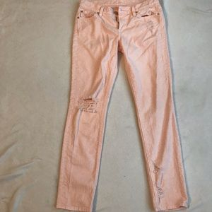 7 For All Mankind The Slim Cigarette Distressed
